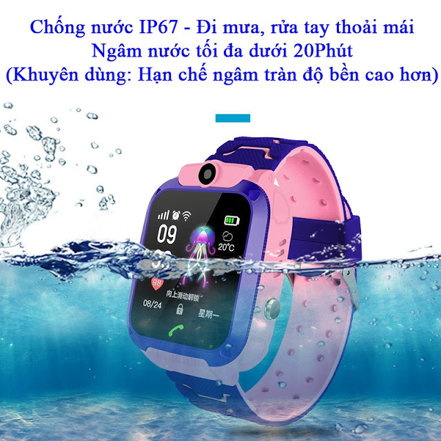 Đồng hồ thông minh định vị trẻ em A28 chống nước Techtoy