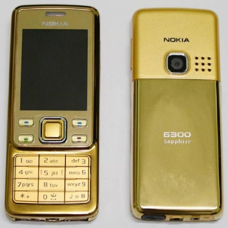 Điện thoại Nokia 6300 vàng gold