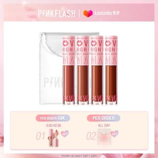 Set of 4 Velvet Matte Lipstick Pinkflash Long Lasting Moisturizing Cream Lip Gloss +PVC transparent bag 120g thumbnail