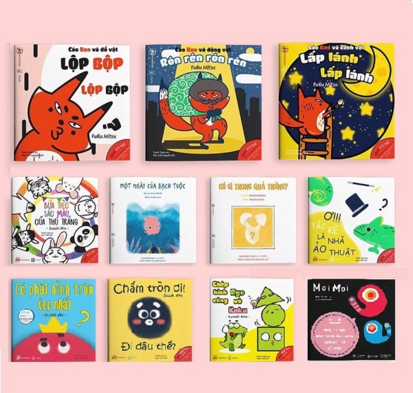 Mua Combo 10 quyển Ehon Hình khối, màu sắc, âm thanh ( 0 - 6 tuổi ) tặng cuốn MOI MOI  - Ehon Nhật Bản Wabooks