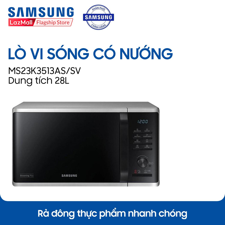 Lò vi sóng Samsung 28 lít MS23K3513AS/SV - Hãng phân phối chính thức