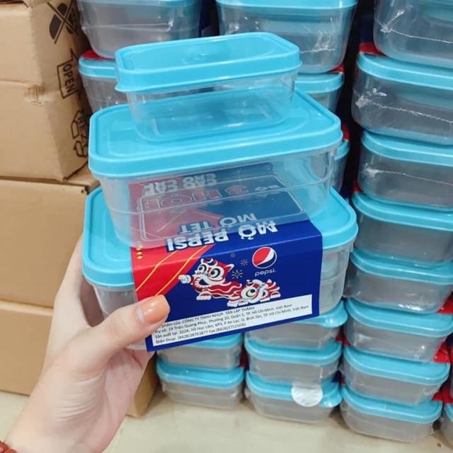 [XẢ KHO 1 NGÀY] Bộ 3 hộp đựng thực phẩm nhựa đại đồng tiến, nhựa thương hiệu an toàn