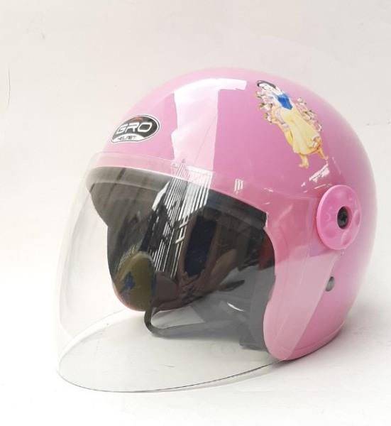 Giá bán Mũ bảo hiểm trẻ em có kính chính hãng GRO công chúa, siêu nhân dành cho bé từ 3 đến 7 tuổi - bảo hành 12 tháng
