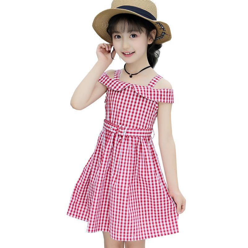 Giá bán Cô Gái Xinh Đẹp Quần Áo Trẻ Em Cô Gái Váy Liền 2019 Mùa Hè Mẫu Mới Cho Trẻ Em Váy Dài Váy Dây Trẻ Em Phong Cách Tây Bãi Biển Váy