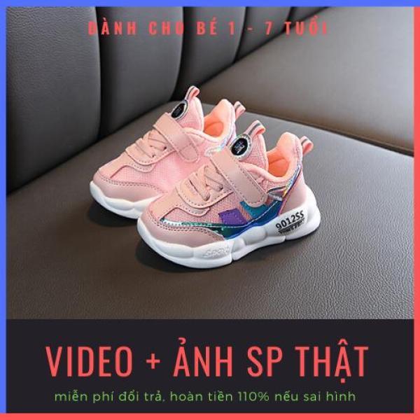 Giá bán Giày trẻ em màu hồng đẹp cao cấp 9012SS siêu bền, siêu thoáng khí dành cho bé gái 1-7 tuổi