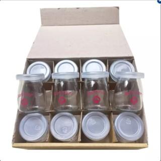 bộ 12 cốc thủy tinh có nắp làm sữa chua thumbnail