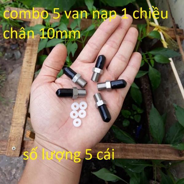 combo 5 van nạp 1 chiều - van nạp 1 chiều chân 10mm