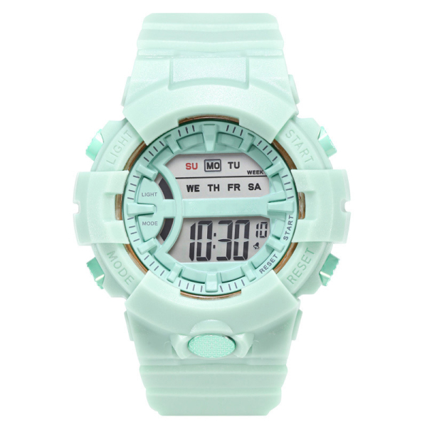 Đồng hồ điện tử nữ - nam Crnaira c562 đèn led sáng xem giờ ban đêm, đầy đủ chức năng xem giờ lịch ngày tháng thứ báo thức và bấm giờ thể thao dây nhựa silicon dẻo dễ đeo
