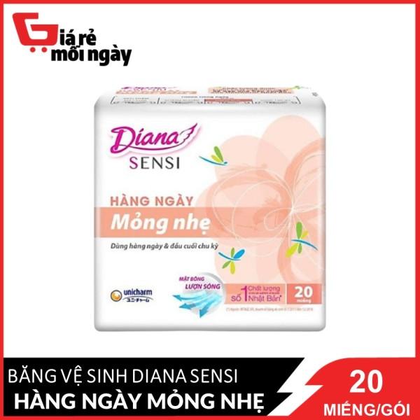 [HCM]Băng vệ sinh Diana Sensi Hàng ngày Mỏng nhẹ 20 miếng/gói nhập khẩu