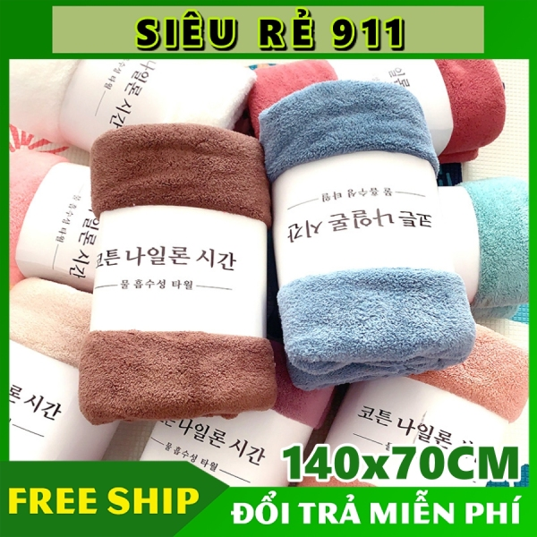 Khăn tắm lông cừu hàn quốc cao cấp 70x140 cm chất bông siêu mềm mịn thấm nước nhập khẩu