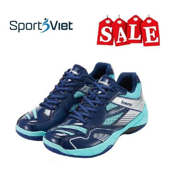 Giày cầu lông Kawasaki K159 xanh (cầu lông, bóng chuyền), giày thể thao chuyên dụng SPORTSVIET, đế kép ôm chân bền đẹp chuyên nghiệp, giày đánh cầu lông nam nữ Kawasaki K159 mầu xanh dương cao cấp giá rẻ