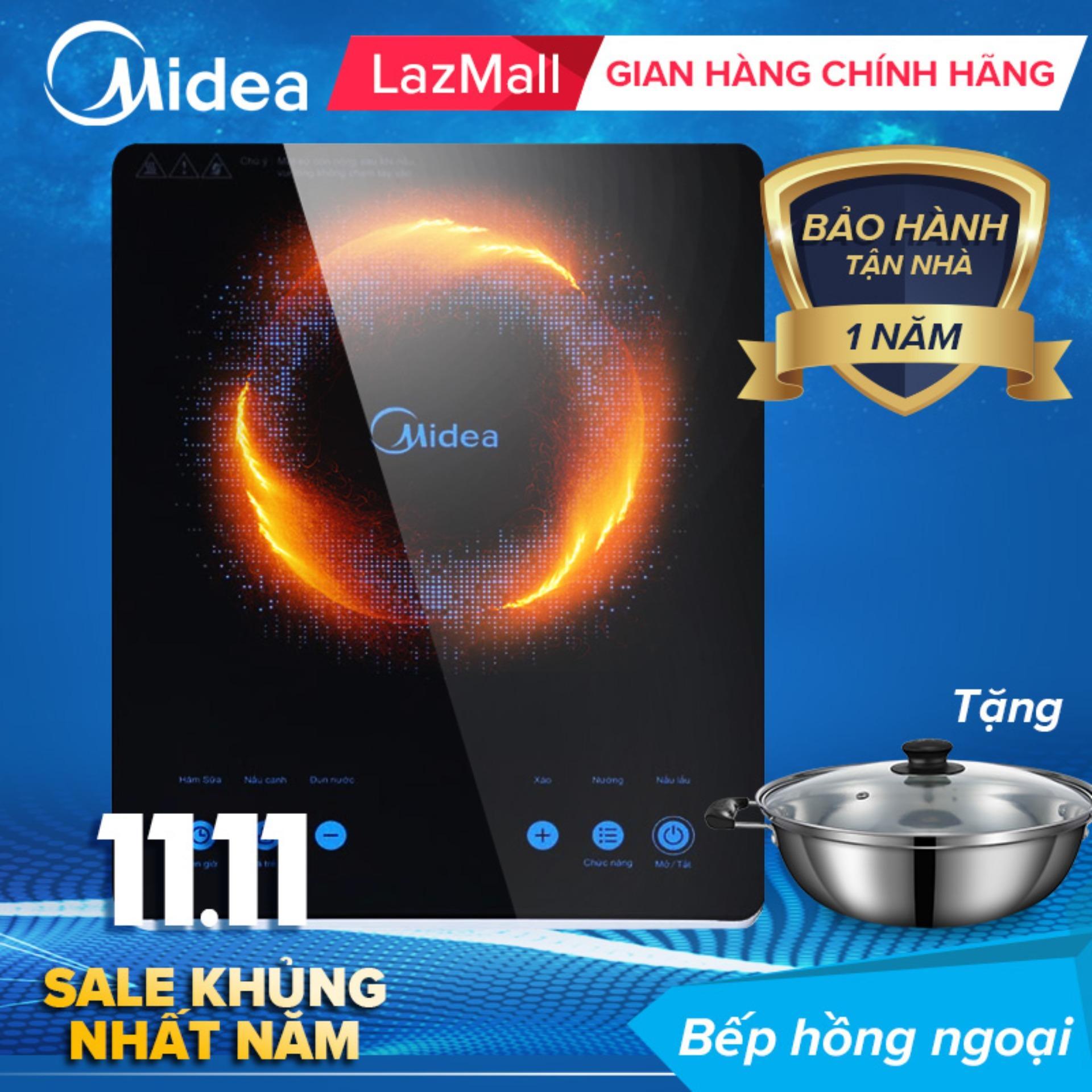 Bếp hồng ngoại cảm ứng Midea MIR-T2018DC