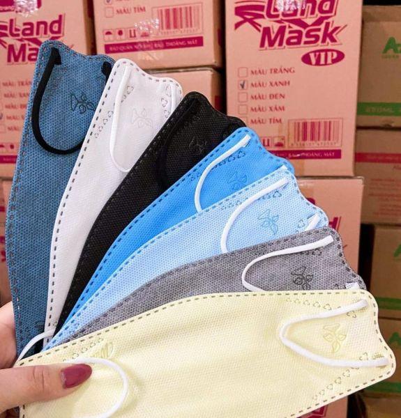 [[Giảm 50%]]-Khẩu trang 3D land mask--4D Nam Anh FAMAPRO giấy kháng khuẩn cao cấp chính hãng công ty túi 6 cái