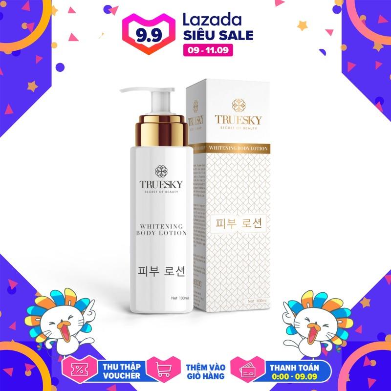 Kem body dưỡng trắng Truesky dạng lotion thẩm thấu nhanh, bổ sung collagen làm da trắng sáng hơn 100ml - Whitening Body Lotion