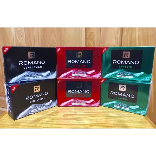 ROMANO_ XÀ BÔNG CỤC ROMANO 90G ĐỦ LOẠI cao cấp