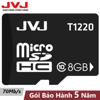 Thẻ nhớ 8G class 10 JVJ microSDHC tốc độ cao - thẻ nhớ chuyên dụng điện thoại, thẻ game, camera wifi, camera yoosee, camera hành trình, BH 5 năm, Samsung, Oppo, Xiaomi, điện thoại android thumbnail