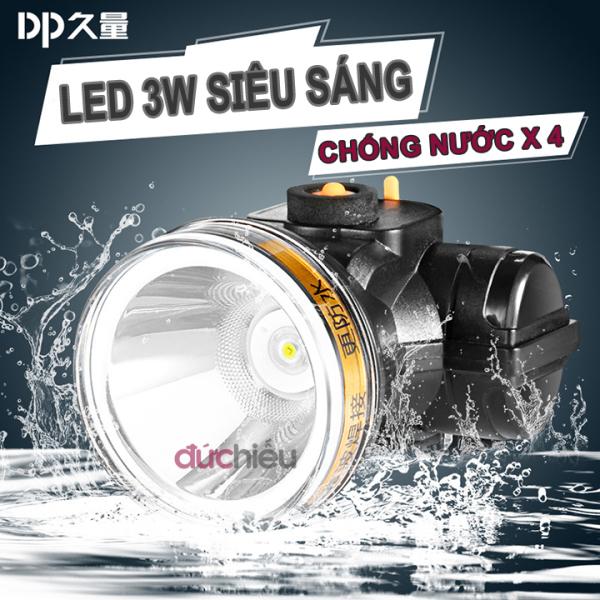 [ Hàng chất lượng ] Đèn pin đội đầu chống nước có ánh sáng vàng DP-7227, đèn đội đầu, đèn đeo đầu, đèn đeo trán, đèn soi ếch - Đức Hiếu Shop