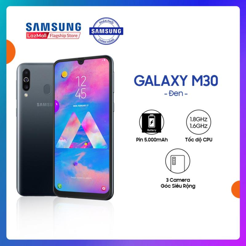 Điện Thoại Samsung Galaxy M30 64GB (4GB) - Màn hình tràn viền vô cực 6.4   SUPER AMOLED Full HD + Cụm 3 Camera sau + Siêu pin 5000 mAh + 2 Nano Sim - Hàng Phân Phối Chính Hãng.