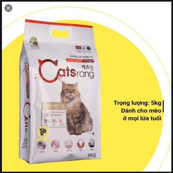 Thức ăn hạt Catsrang cho Mèo mọi lứa tuổi. Nhập khẩu Hàn Quốc- bao 5kg.