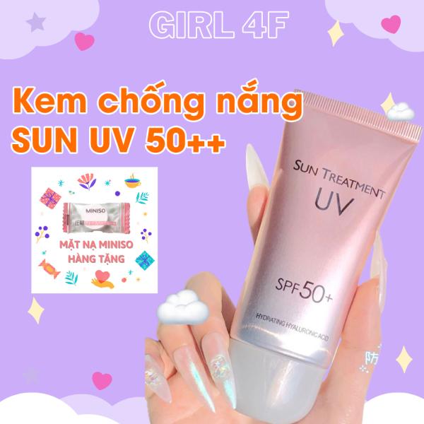 Kem chống nắng Sun Treatment UV SPF 50+ cho da mặt và toàn thân dùng cho mọi loại da dầu, mụn nam, nữ, học sinh dùng rất rẻ và hiệu quả hàng nội địa trung
