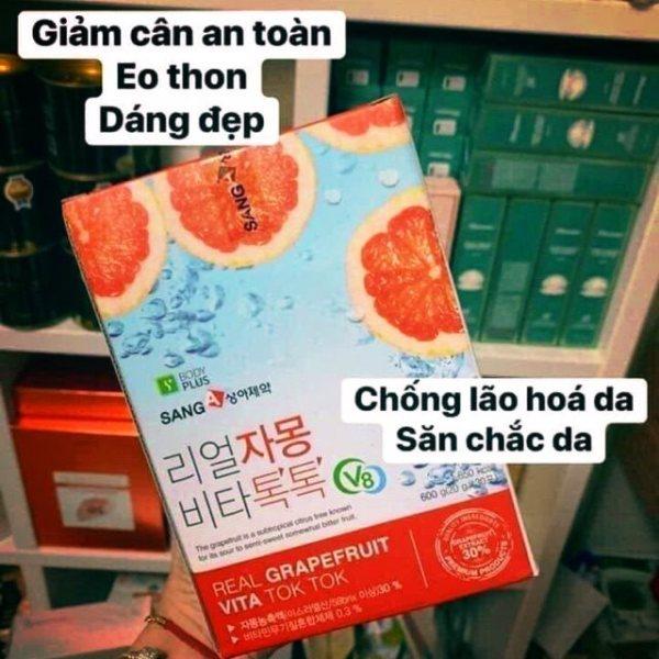 [Combo lẻ 5 gói] Nước ép Bưởi Giảm Cân Đẹp Da Real Grapefruit Vita Tok Tok SangA
