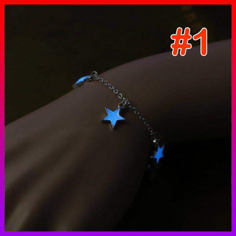 [HCM]Vòng tay/Lắc chân dạ quang ngôi sao/trái tim/bông hoa LUCKY STAR - NHShop