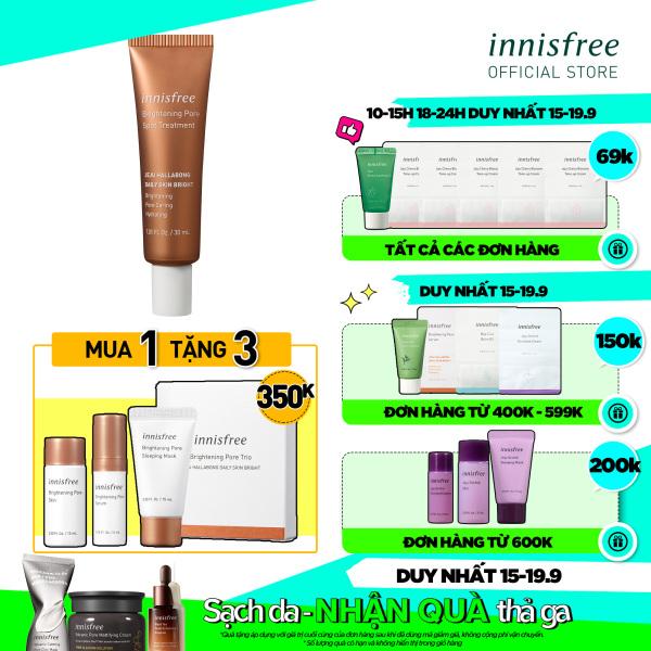 Tinh chất dưỡng sáng da 3 trong 1 innisfree Brightening Pore Spot Treatment 30ml nhập khẩu