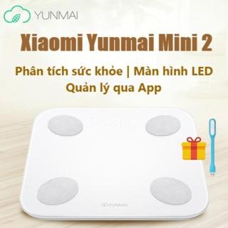 CÂN THÔNG MINH XIAOMI YUNMAI MINI 2 -Cân thông minh Xiaomi Smart Scale tặng kèm đèn led usb -dc3727 thumbnail