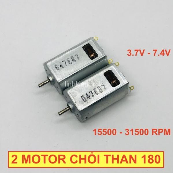 Bảng giá 2 motor chổi than 180 điện áp 3.7v - 7.4v Tốc độ cao 15500 - 31500 RPM mô men xoắn cao cho xe mô hình - LK0094