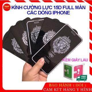 [XẢ KHO 3 NGÀY] Kính Cường Lực Iphone, miếng dán màn hình Mới Nhất 15D Full Màn, Viền Nhỏ, dành cho Cho Iphone 6 6s 7 8 Plus X, Xs Max thumbnail