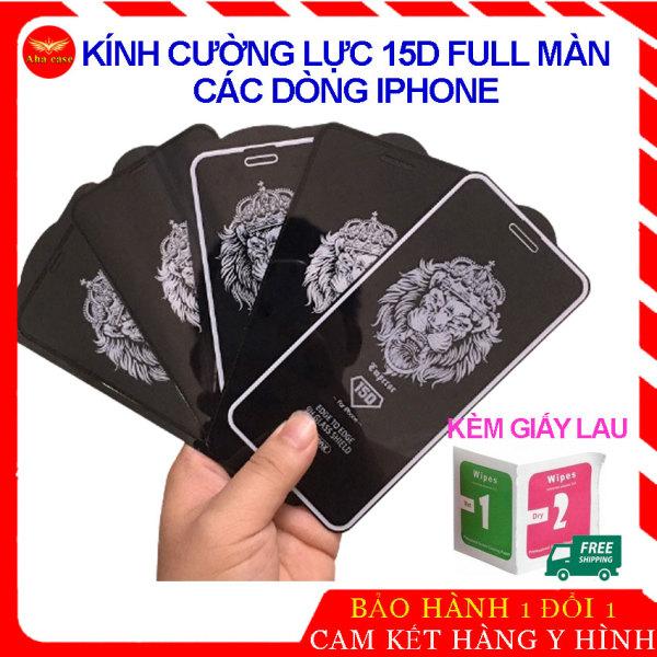 [XẢ KHO 3 NGÀY] Kính Cường Lực Iphone, miếng dán màn hình Mới Nhất 15D Full Màn, Viền Nhỏ, dành cho Cho Iphone 6/6s/7/8 Plus/ X, Xs Max/ 11/ 11 Pro/ 11 Promax/ ip12/ 12pro/ 12promax đẹp rẻ