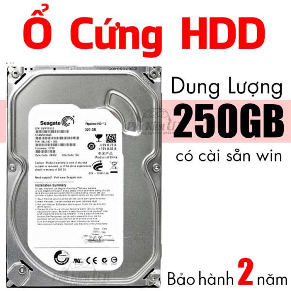 Bảng giá Ổ cứng HDD máy tính bàn Seagate 250GB Bảo Hành 2 Năm Phong Vũ