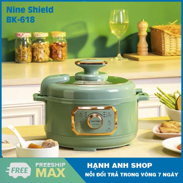 [ Hàng Nội Địa Trung Quốc ] Nồi Áp Suất Điện Đa Năng  Nine Shield KB-618 - Nhiều chế độ nấu bảo toàn dinh dưỡng  - Hàng Chính Hãng- Bảo Hành 12 Tháng
