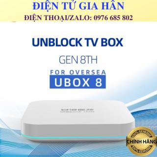 Ubox Gen 8 Ram 4G+ 64G Xem Phim, Kênh Truyền Hình Quốc Tế Nhật, Hàn, Trung, Đài Loan Miễn Phí Hơn 1000 Kênh thumbnail