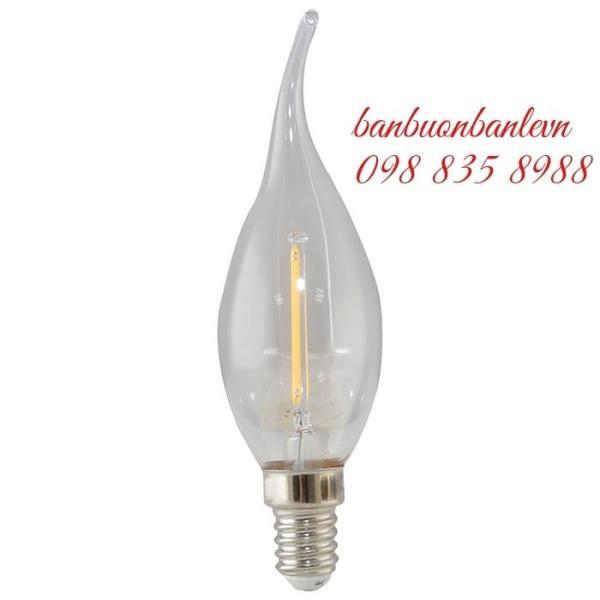 Bóng đèn LED nến dây tóc 2,5w Rạng Đông