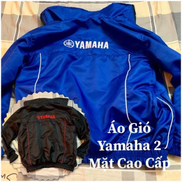 Áo gió Yamaha 2 mặt xanh đen cao cấp