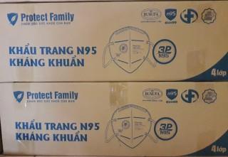 Thùng Khẩu Trang Kháng Khuẩn N95 4 lớp Hiệu Quả và có van lọc khí Protect Family, 30 hộp 30 cái, Có Giấy Kiểm Định Của Bộ Y Tế Face Mask 30box 30pcs thumbnail