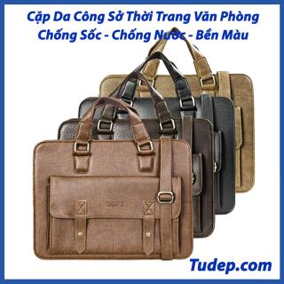 Túi Đựng Laptop Tư Đẹp Cao Cấp Cặp Xách Da Nam Đeo Chéo Đa Năng Công Sở Đi Học Chơi Đựng Latop Cấp 1 2 3( HQ03) thumbnail