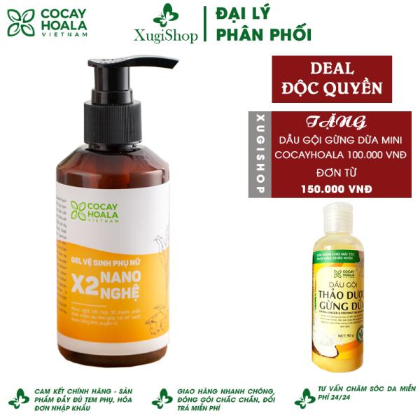 Dung dịch vệ sinh phụ nữ Giảm Ngứa Gel X2 Nano Nghệ Cỏ Cây Hoa Lá 150 ml cao cấp
