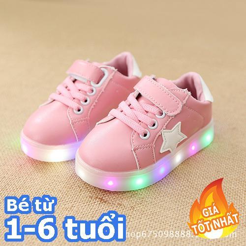 [SIÊU RẺ] Giày bé gái - giay be gai - giày cho bé gái - giay cho be gai - giày trẻ em - giay the thao cho be gai - giày thể thao cho bé gái - giay dep tre em - giày phát sáng trẻ em - Giày thể thao màu hồng cho bé gái có đèn led