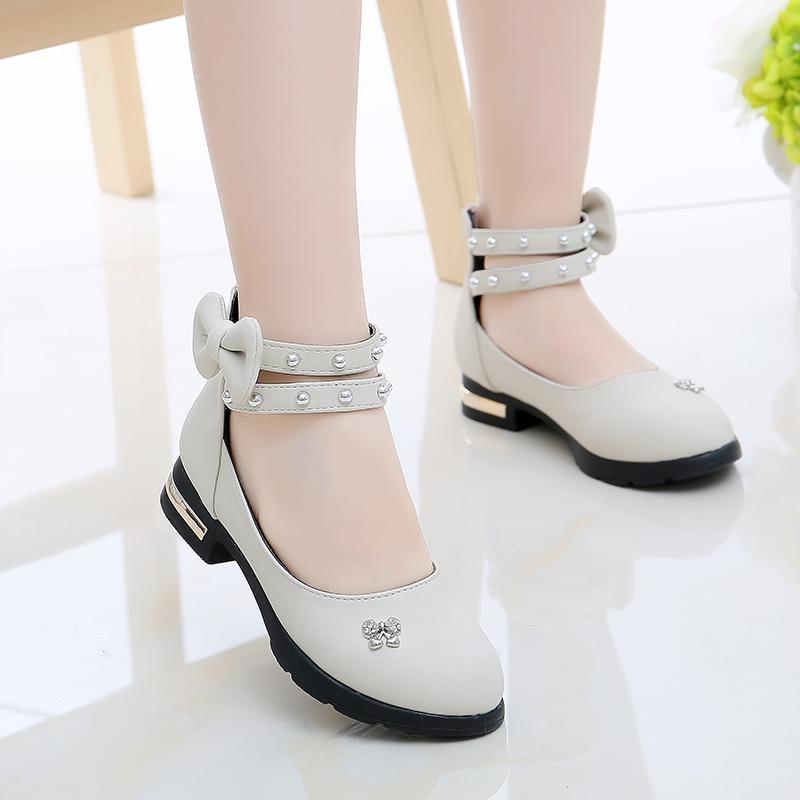 Cô Gái Giày Da Giày Mùa Xuân Học Sinh Tiểu Học Mốt Thời Thượng Giày Thu 2018 Mẫu Mới Thường Công Chúa Giày Trẻ Em Trẻ Em Giày Cao Gót