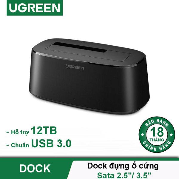 Giá Dock đựng ổ cứng Sata 2.5 / 3.5 inch hỗ trợ 12TB chuẩn USB 3.0 cao cấp UGREEN CM197 50740