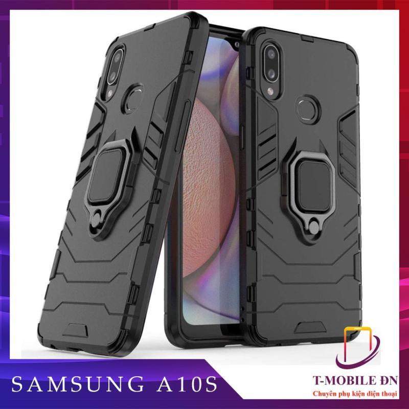 Giá Ốp lưng Samsung A10s chống sốc iron man kèm nhẫn ring chống xem video tiện lợi