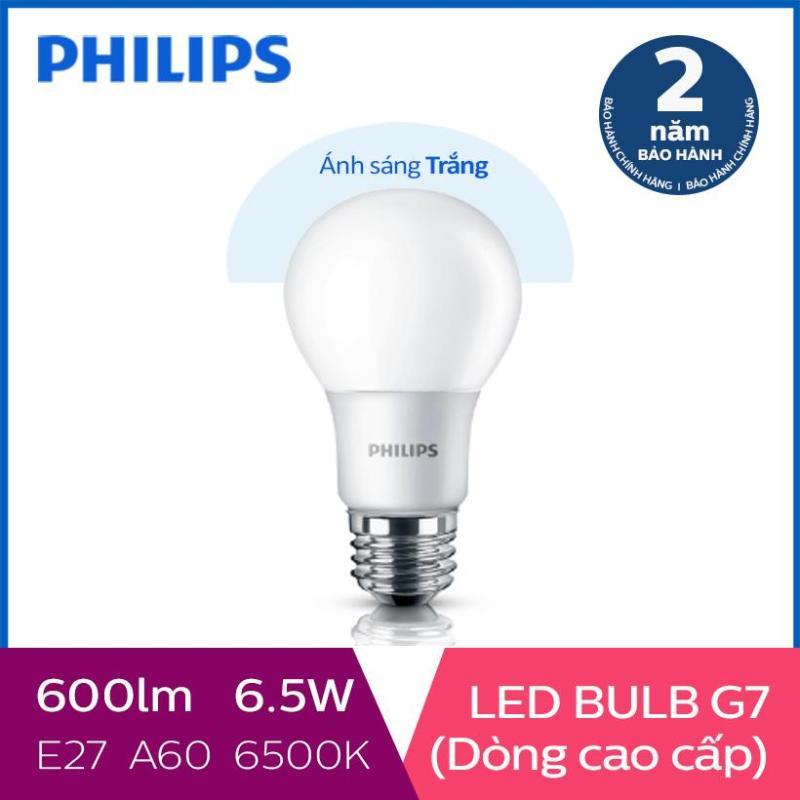 Bóng đèn Philips LED cao cấp siêu sáng tiết kiệm điện Gen7 6.5W 6500K E27 230V A60 - Ánh sáng trắng