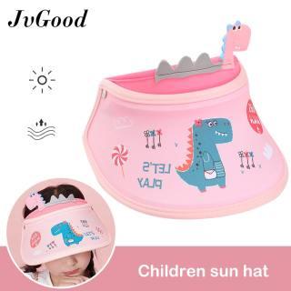 Mũ vành rộng JvGood có thể điều chỉnh, in hoạt hình dễ thương, chống nắng, thời trang đi biển mùa hè cho trẻ em - INTL