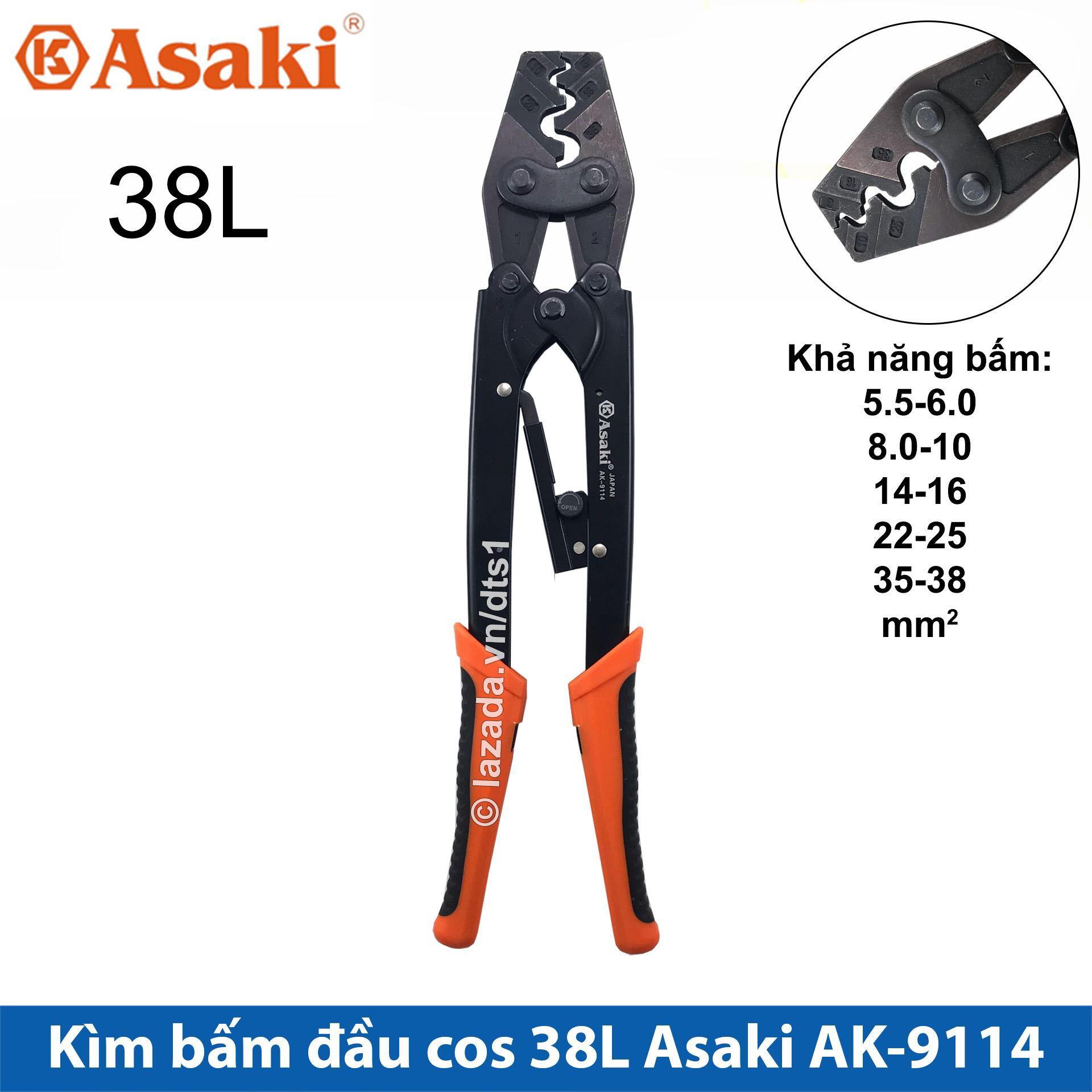 Kìm bấm cos 38L 5.5 -> 38mm2 Asaki AK-9114, Kềm bấm cốt 38L (Kìm bấm đầu cote Asaki)