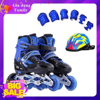 Giày Trượt Patin, Combo giày trượt Patin, Tặng Kèm Bộ Bảo Hộ (Mũ Bảo HIểm và Bảo Vệ Tay Chân) thumbnail