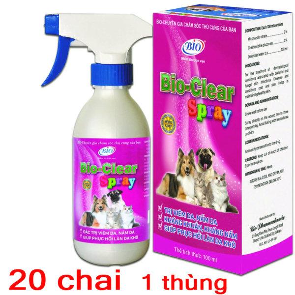 [HCM]Sỉ 20 Chai xịt BIO- CLEAR SPRAY viêm da nấm da phục hồi da tổn thương cho chó mèo-79209