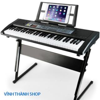 Mua Đàn Piano 61 Phím Tặng kèm Micro Hát - Bé Học Đàn Tại Nhà Phát Triển Tay, Trí Não ,Thuộc Bàn Phím - Đàn Organ Cho Người Lớn Và Trẻ Em - Đàn Kỹ Thuật Số Âm Cực Hay- Bh 12 Thang thumbnail