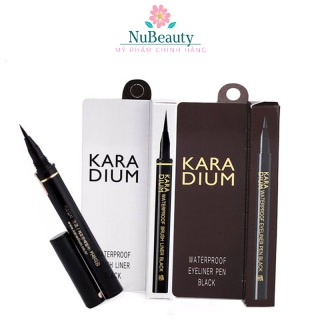 CHÍNH HÃNG Kẻ mắt dạ siêu mảnh Karadium Waterproof Brush Liner Black chống nước FREE SHIP TOÀN QUỐC thumbnail